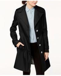 Calvin Klein - Belted Waterproof Trench Coat - Lyst