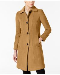 Anne Klein - Club-collar Wool-blend Walker Coat - Lyst