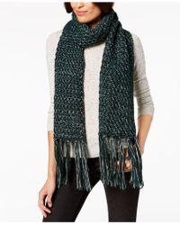 Steve Madden - Lurex Knit Tassel Scarf - Lyst