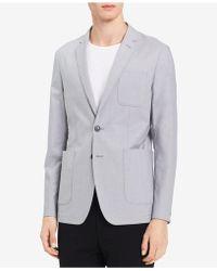 Calvin Klein - Two-button Chambray Blazer - Lyst