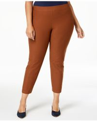 Eileen Fisher - Plus Size Washable Crepe Slim Ankle Pants - Lyst
