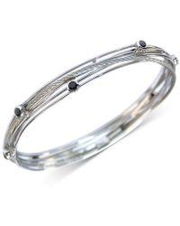 Charriol - Black Spinel Multi-band Bracelet In Stainless Steel - Lyst
