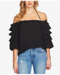1.STATE - Ruffled Halter Top - Lyst