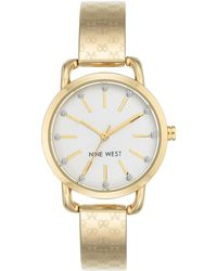 Nine West - Women's Gold-tone Bangle Bracelet Watch 32mm - Lyst