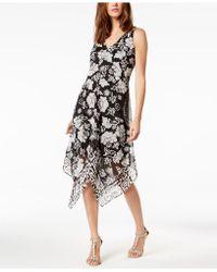 INC International Concepts - I.n.c. Floral-print Handkerchief-hem Top, Created For Macy's - Lyst
