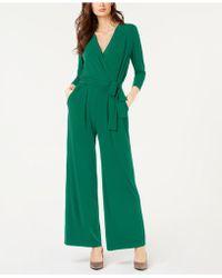 Alfani - Petite Solid 3/4 Sleeve Jumpsuit, Created For Macy's - Lyst