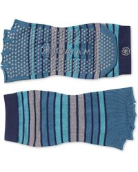 Gaiam - Striped Grippy Toeless Yoga Socks - Lyst