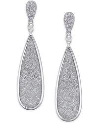 Macy's - Diamond Glitter Drop Earrings (1/5 Ct. T.w.) In Sterling Silver - Lyst