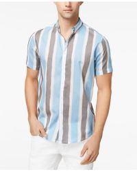 INC International Concepts - Men's Painter Stripes Shirt - Lyst