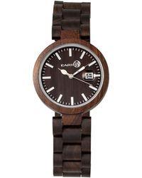 Earth Wood - Stomates Wood Bracelet Watch W/date Brown 40mm - Lyst