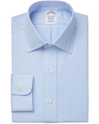Brooks Brothers | Classic Fit Non-iron Pinpoint Solid Dress Shirt Product | Lyst