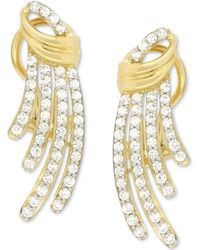 Wrapped in Love - Diamond Drop Earrings (1 Ct. T.w.) In 14k Gold - Lyst