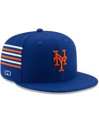 fe6b8f93d92 Lyst - KTZ New York Mets Double Mesh 39thirty Cap in Blue for Men