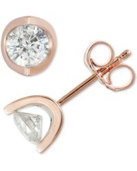 Macy's - Diamond Tension Stud Earrings (1 Ct. T.w.) - Lyst