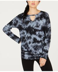 Calvin Klein - Performance Comet Tie-dyed Keyhole Top - Lyst
