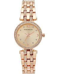 Charter Club - Women's Pavé Rose Gold-tone Bracelet Watch 28mm - Lyst