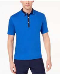 Daniel Hechter - Atwood Mix-media Polo - Lyst
