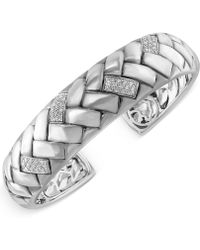 Effy Collection - Diamond Bangle Bracelet (1/3 Ct. T.w.) In Sterling Silver - Lyst