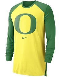 a32ba4cb Lyst - Nike Oregon Ducks Long Sleeve Basketball T-shirt in Black for Men