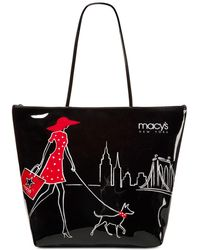 Macy's - Lady Walking Dog Large Tote - Lyst