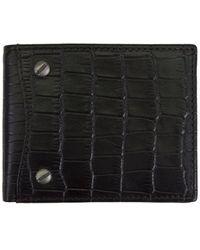 Steve Madden Crock Leather Billfold Wallet With Screws
