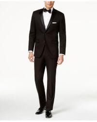 Perry Ellis - Black Solid Slim-fit Tuxedo - Lyst