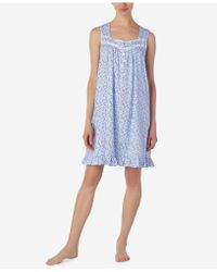 Eileen West - Venise-lace Cotton Nightgown - Lyst