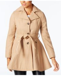 INC International Concepts - Skirted Peacoat - Lyst