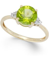 Macy's - Peridot (2 Ct. T.w.) And Diamond Accent Ring In 14k Gold - Lyst