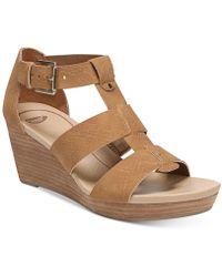 Dr. Scholls - Barton Wedge Sandals - Lyst