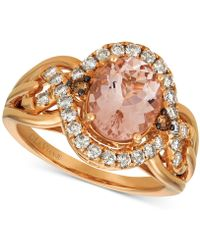 Le Vian - ® Morganite (1-3/4 Ct. T.w.) & Diamond (5/8 Ct. T.w.) Ring In 14k Rose Gold - Lyst