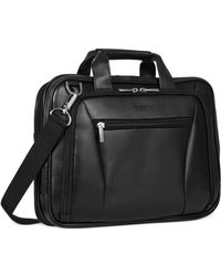 Kenneth Cole Reaction - Leather Double Gusset Laptop Brief - Lyst