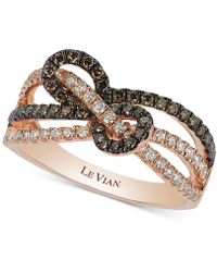Le Vian - Chocolatier® Gladiator Knotstm Diamond Statement Ring (5/8 Ct. T.w.) In 14k Rose Gold - Lyst