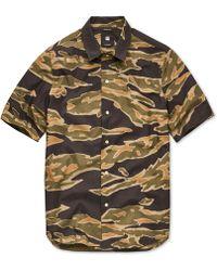 G-Star RAW - Bristum Utility Camo Poplin Shirt - Lyst