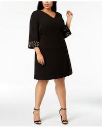 Calvin Klein - Plus Size Embellished Sheath Dress - Lyst