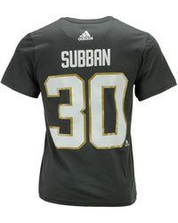eaa10c92d adidas - Malcolm Subban Vegas Golden Knights Silver Player T-shirt - Lyst
