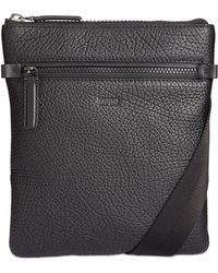 BOSS - Men's Victorian Leather Messenger Bag - Lyst