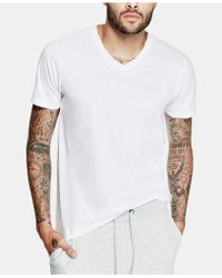 Guess - Mens Mason Yoke V-neck T-shirt - Lyst