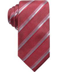 Alfani | Men's Stripe Slim Silk Tie, Created For Macy's | Lyst