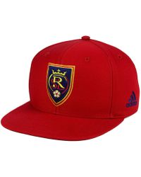 25d4c985301 Lyst - Adidas Real Salt Lake Mls Mid Fielder Cap in Red for Men