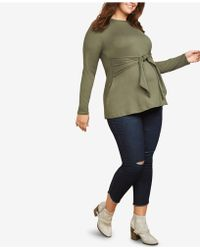 eb282262f5373 Jessica Simpson - Maternity Plus Size Distressed Skinny Jeans - Lyst