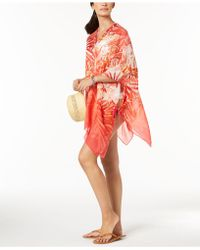 CALVIN KLEIN 205W39NYC - Tropical Ombré Chiffon Cover-up - Lyst