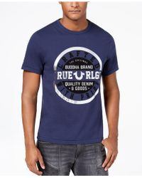 True Religion - Men's Crafted Metallic Logo-print T-shirt - Lyst