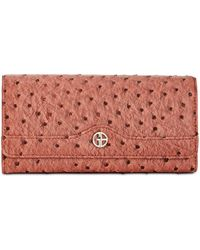 Giani Bernini - Ostrich-embossed Receipt Wallet, Created For Macy's - Lyst