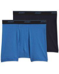 Jockey - Big Man 2 Pack Staycool+ Cotton Boxer Briefs - Lyst