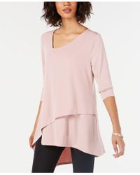 a0167fc708aa8 Lyst - 1.STATE Envelope Back Double Layer Tank in Pink