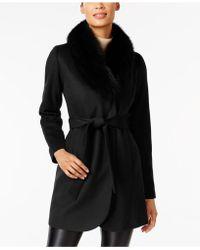 Forecaster - Fox-fur-trim Shawl-collar Coat - Lyst