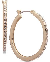 Ivanka Trump - Gold-tone Crystal In & Out Hoop Earrings - Lyst