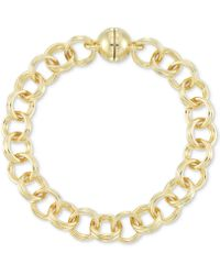 Signature Gold - Tm Double Link Chain Bracelet In 14k Gold Over Resin - Lyst