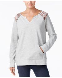 Style & Co. - Split-neck Sweatshirt, Created For Macy's - Lyst